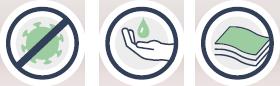 Handdesinfektionstuch zur Desinfektion der Hände